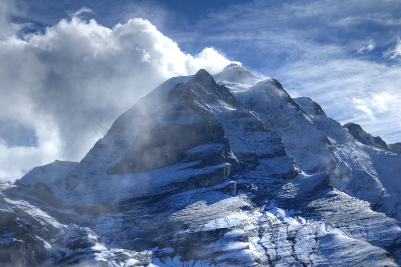 Eiger with clouds forming downwind