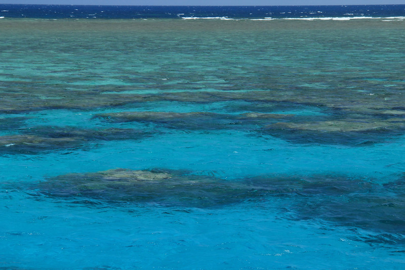 The reef from the surface