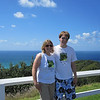 At the Byron Bay Lighthouse. How cheesy, we both chose the same shirt!
