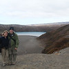Lower Tama Lake, the endpoint of our hike. It was very windy on the ridge.