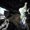 A huge boulder above our heads in the Phnom Chhnork cave. Fortunately it didn't fall down while we were there.