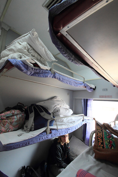 In case you're wondering what an overnight train's like in China, this is a hard sleeper from Lijiang to Kunming. Overall it's pretty nice!