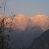 Jade Dragon Snow Mountains at sunset
