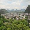 Looking down on Yangshuo