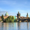 Looking over at Old Town from across the river. This is the Charles Bridge, the most famous in the city.
