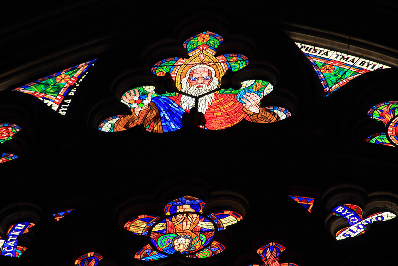 Stained glass in St. Vitus