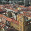 Looking down on Prague