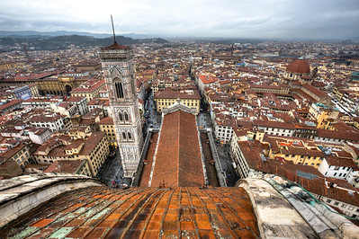Florence cityscape from the top of the cathedral