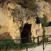 Houses built into caves in Amboise