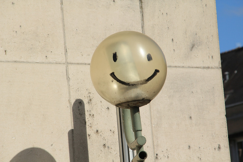 Funny lamp in Tours