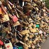 Padlocks on the Pont de l'Archevêché