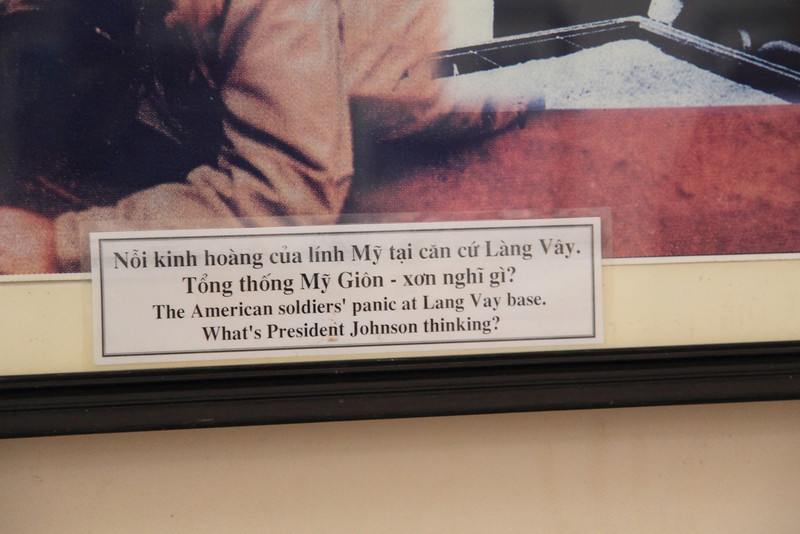 Khe Sanh Museum: a really strange caption to a photo.