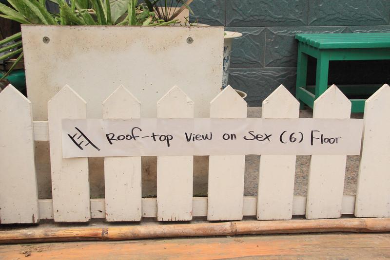 Our hostel has a sex floor?