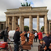 There were some crazy tourist sights in front of this gate: numerous human statues, people in bear costumes, people in WWII and Cold War military uniforms, and this pretzel vendor.