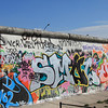 The East Gallery, the only sizable portion of the Berlin Wall left standing