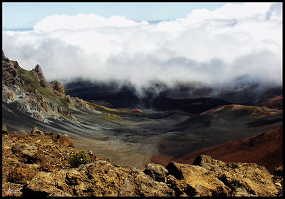 Winds and clouds at the Haleakala Volcano.