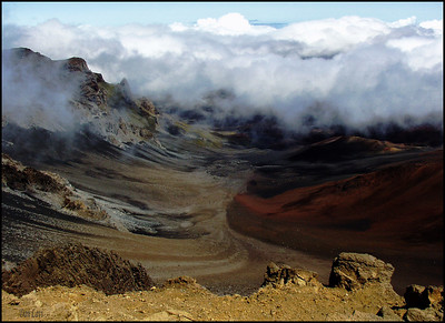 Winds and clouds at the Haleakala Volcano
