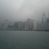 Hong Kong Island central district from Kowloon. Did I mention it was foggy?