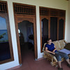 Our private balcony overlooking the ocean