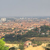 Looking down on Bologna