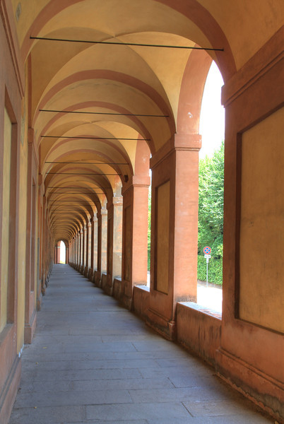 Portico de San Luca. This is the longest arcade in the world at 3.8km. It's uphill the entire way.