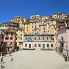 The central square in Riomaggiore