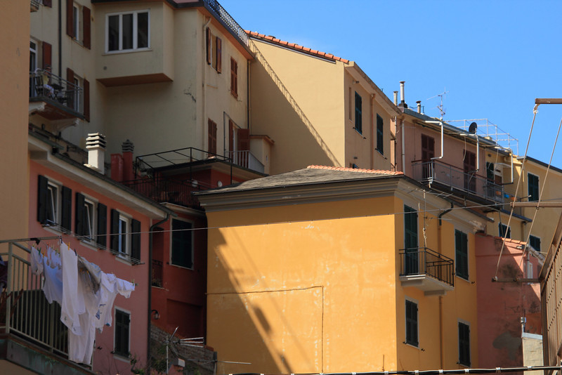 Houses built on the hillside