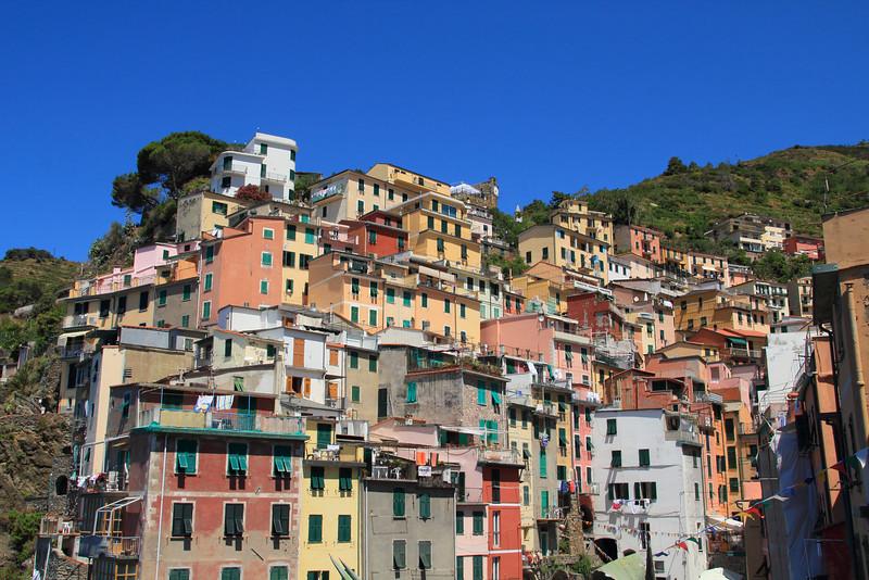 Houses built into the hill, Riomaggiore