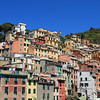 Houses built into the hill, Riomaggiore