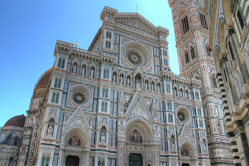 The Duomo Cathedral of Florence. It was begun in 1296 and completed in 1436. It took a long time because it was an engineering marvel in its time.