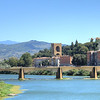 Ponte San Niccolo and the Tuscan countryside