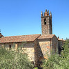 The plain church in Monteriggioni