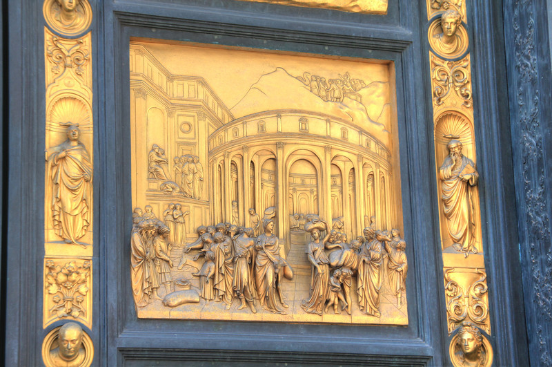 "The ""Gates of Paradise"" on the Baptistery."