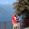 Photo op in Varenna with my new Bucky T-shirt!