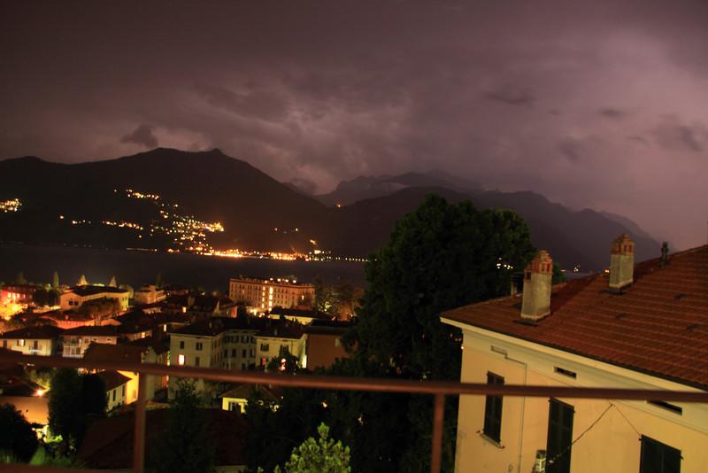 Lightning storm that night