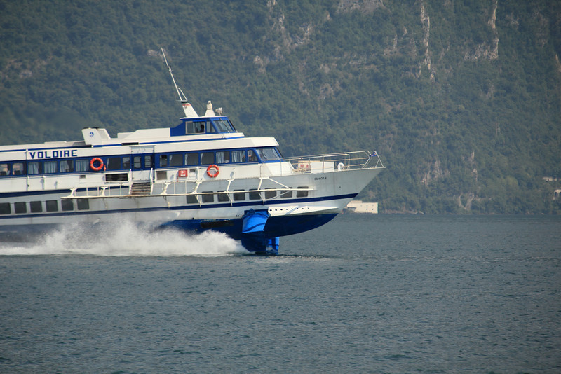 The hydrofoil passed near us