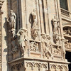 Statues outside the Duomo