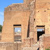 Ruins of Palatine Hill, with St. Peter's on the Vatican Hill