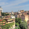 Looking down on the Roman Forum and some newer buildings