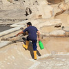 Cleaners in the Trevi Fountain