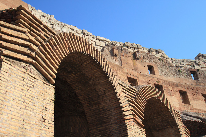 An entryway to the Colosseum
