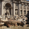 Trevi Fountain, the most iconic in Rome. Unfortunately when we arrived it was turned off for cleaning