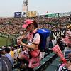 Asahi girls carry a mini-keg on their backs!