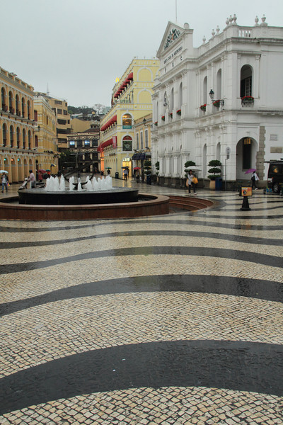 Senado Square on a rainy day