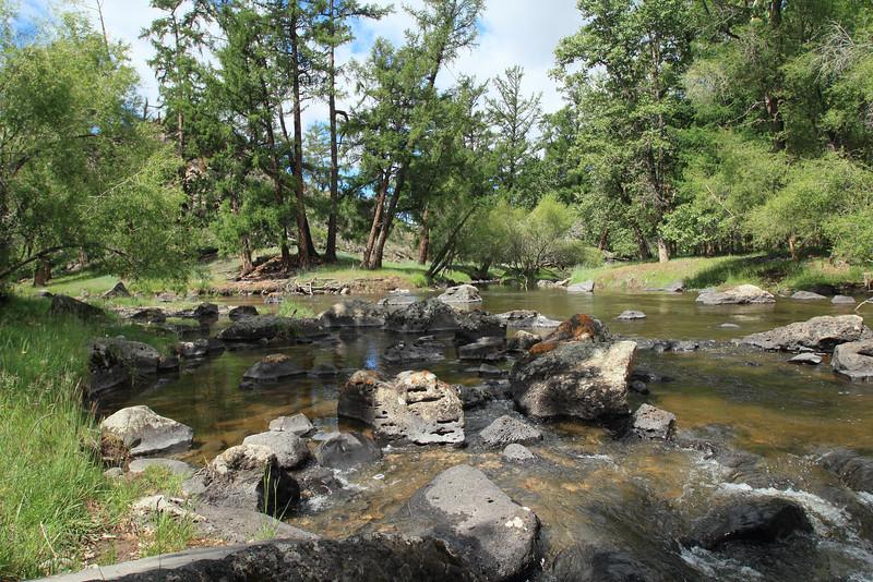 Stream near the waterfall