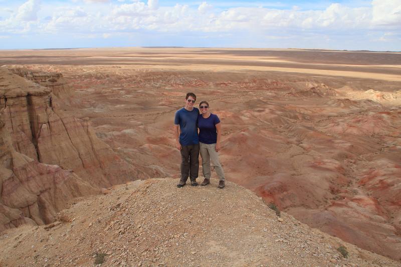 At Tsagaan Suvarga in the Gobi desert