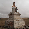 Day 2. We stopped at an abandoned monastery in the rain. Here's a stupa