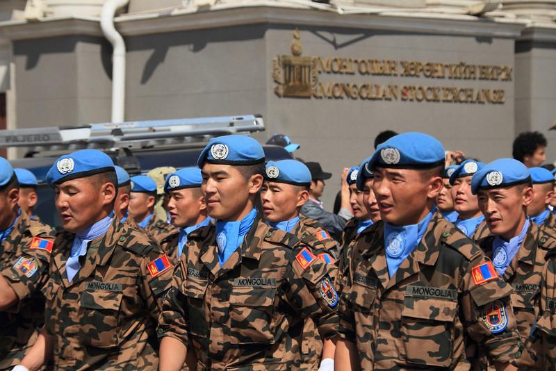 Mongolia's UN troops