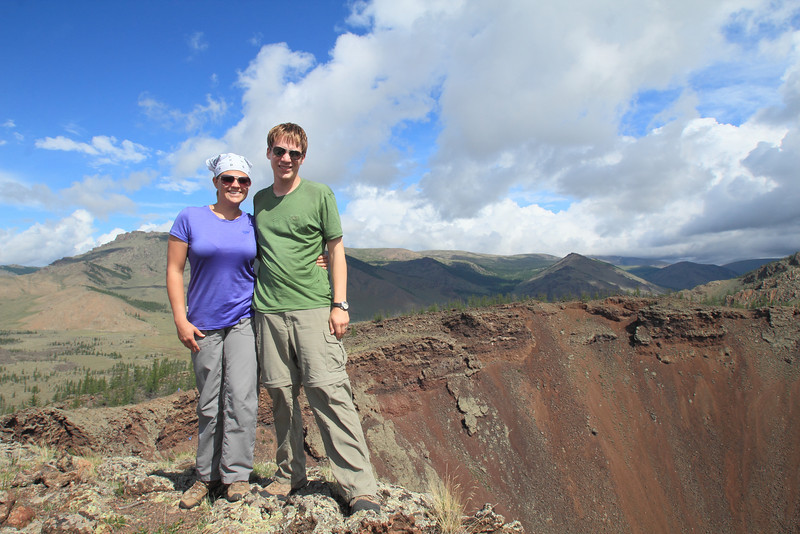 On the rim of the volcano