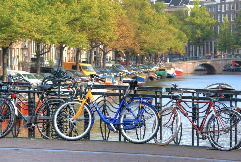 Bikes near the canal